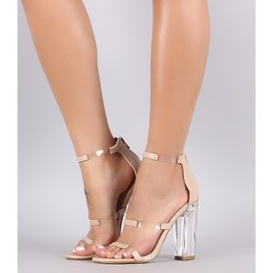 🎃 Bamboo Nude Three Piece Silhouette Heel Size 8